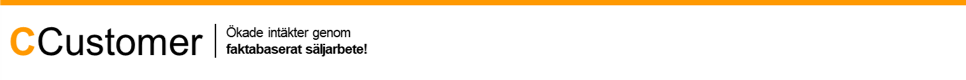 CCustomer AB | Ökade intäkter genom faktabaserat säljarbete